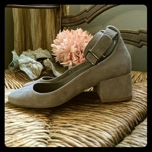 Steve Madden Wail Suede Pumps with Ankle Strap